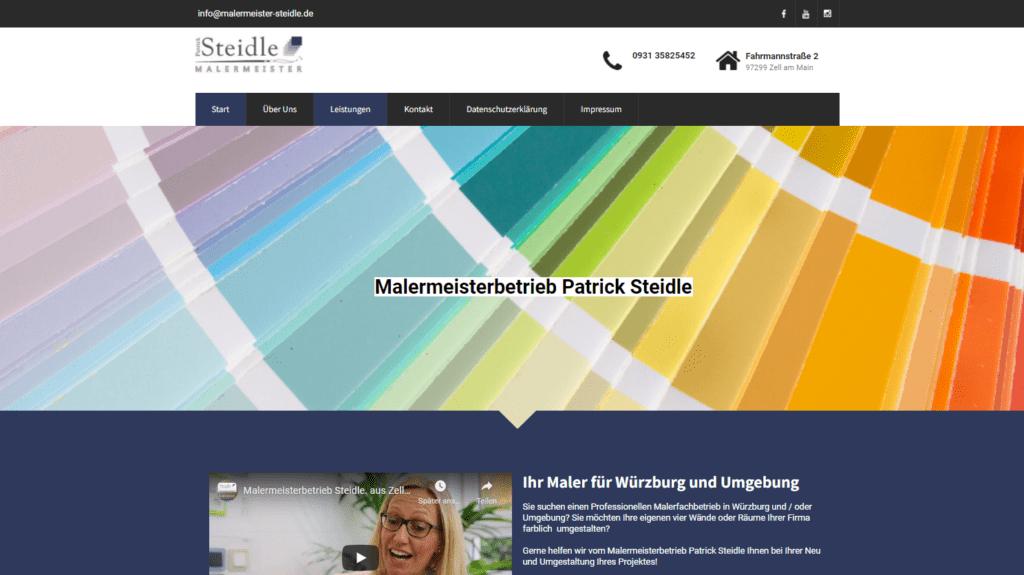 Kundenprojekt-Malermeisterbetrieb-Patrick-Steidle