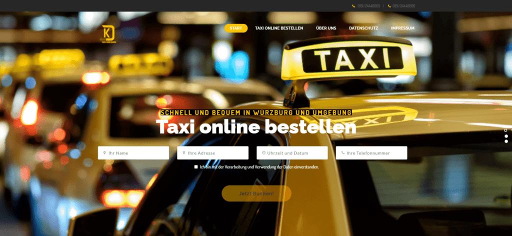 Taxi Würzburg KD Homepage Referenz