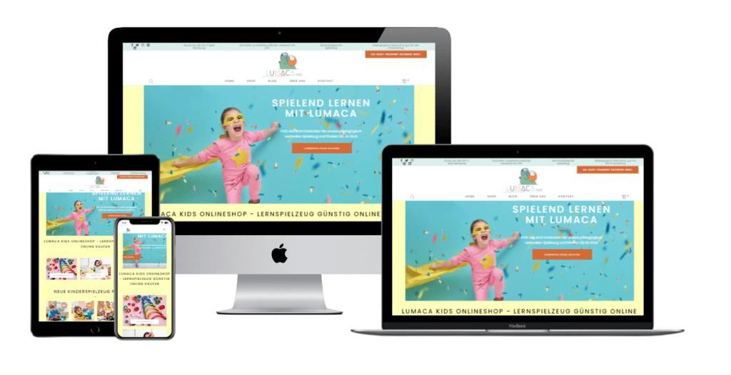 Lumaca Kids Onlineshop Kundenprojekt Referenz