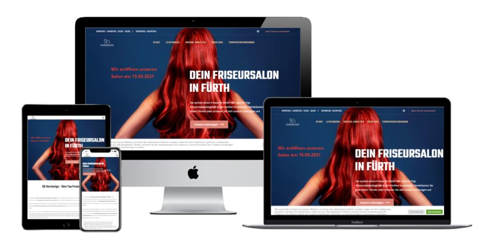 SG Hairdesign Fürth Kundenprojekt Referenz