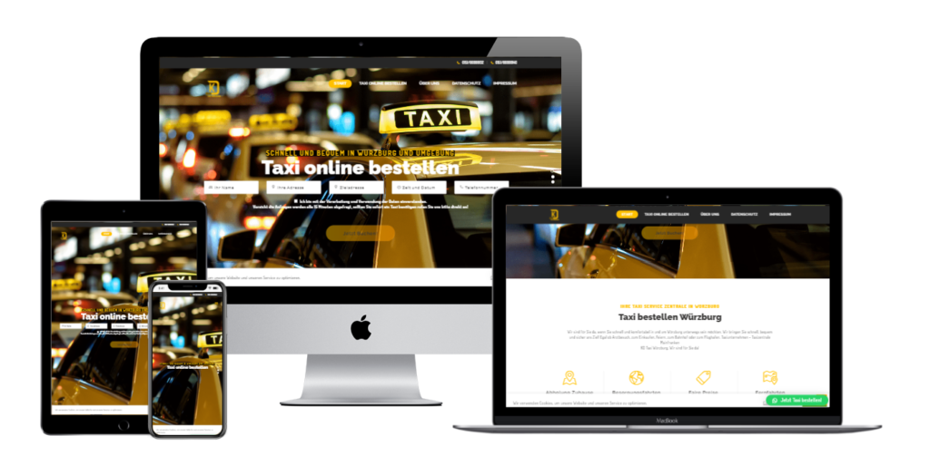 Taxiunternehmen KD Würzburg Kundenprojekt Referenz
