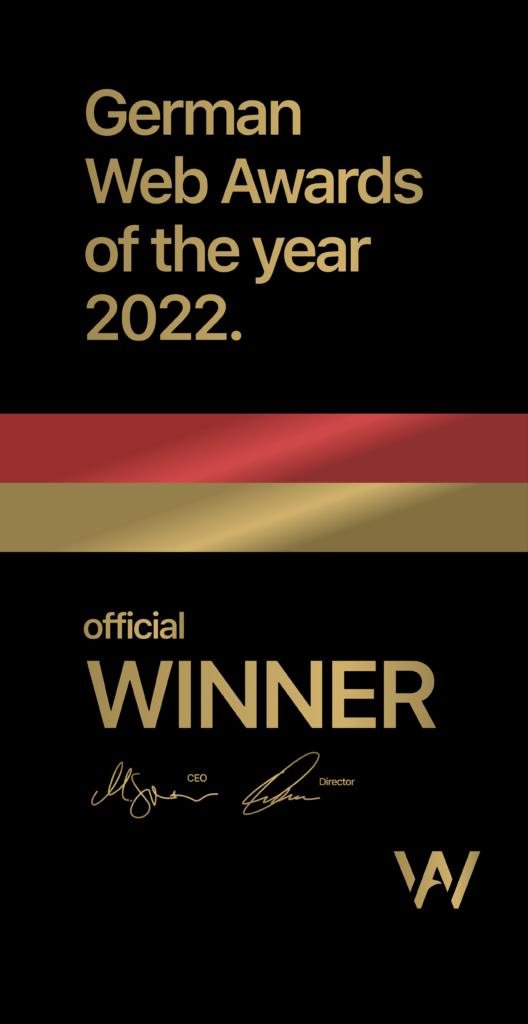 German Web Award Winner 2022